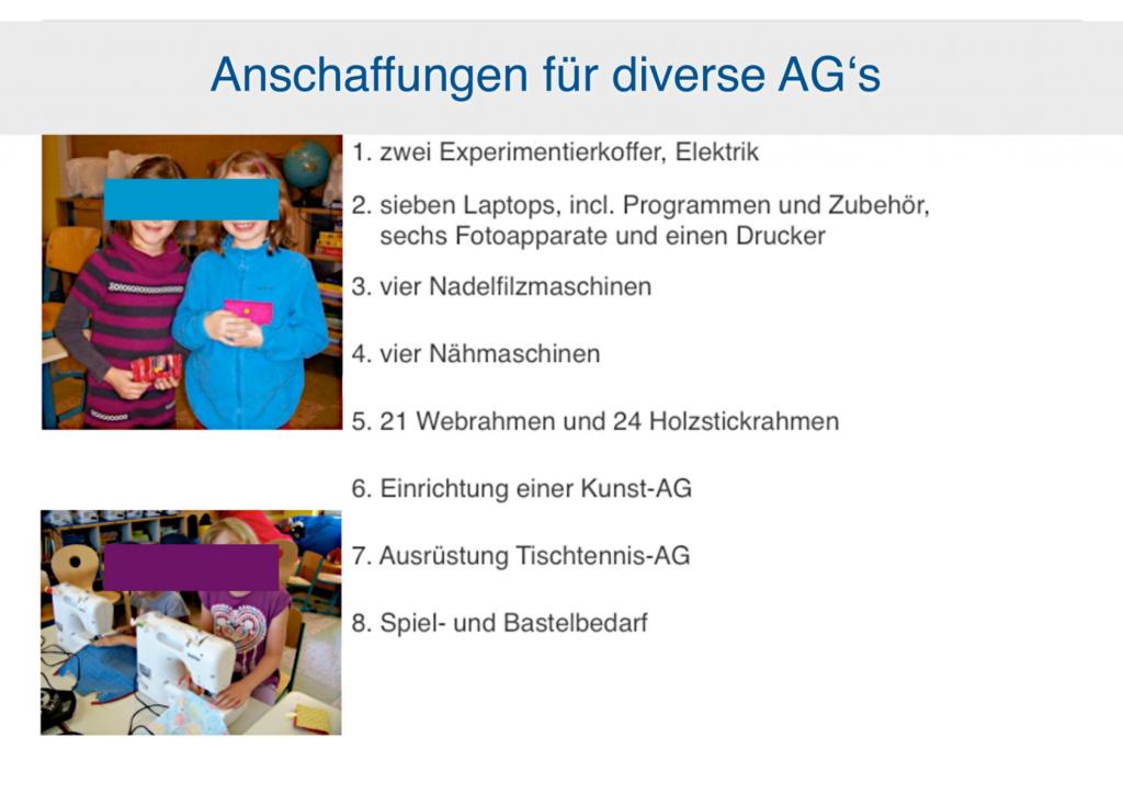 Anschafflungen AGs